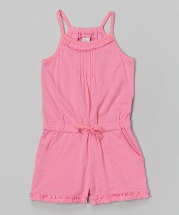Preppy Pink Summer Fun Romper - Toddler & Girls