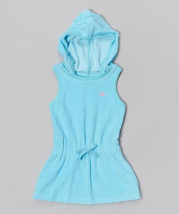 Marine Aqua Hooded Cover-Up - Toddler & Girls