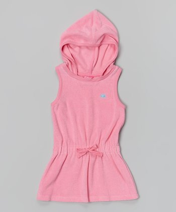 Preppy Pink Hooded Cover-Up - Girls