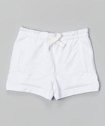 White Drawstring Shorts - Toddler & Girls