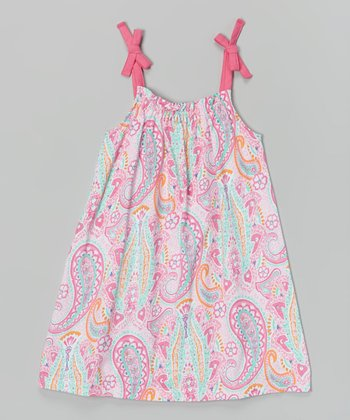 Preppy Pink Paisley Tie-Strap Cover-Up - Toddler & Girls