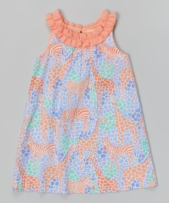 Neon Peach Phoebe Dress - Infant & Girls