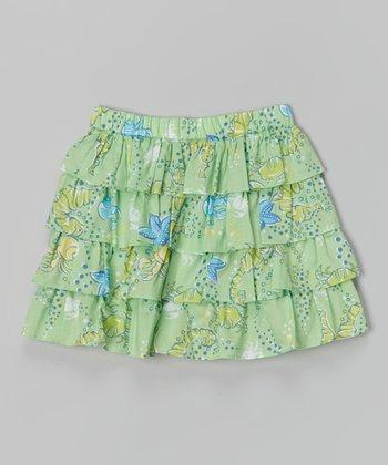 Sea Green Tiered Skirt - Toddler & Girls