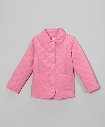 Preppy Pink Quilted Jacket - Toddler & Girls