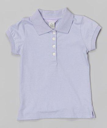 Lilac Cap-Sleeve Polo - Toddler & Girls