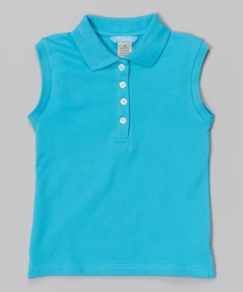 Blue Sleeveless Polo - Toddler & Girls