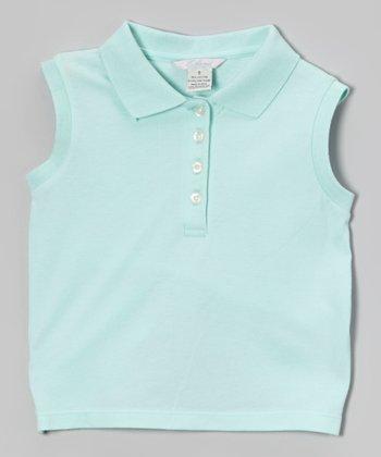 Mint Sleeveless Polo - Toddler & Girls