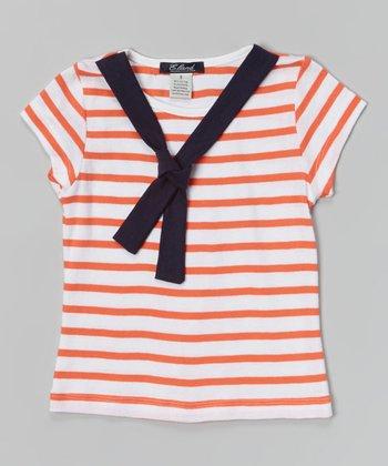 Orange Stripe Sailor Tee - Toddler & Girls
