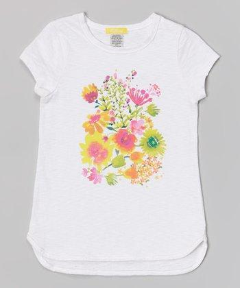 White Bouquet Tee - Toddler & Girls