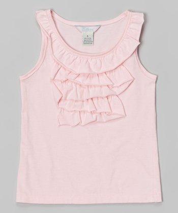 Candy Pink Ruffle Tank - Toddler