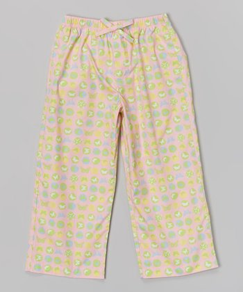 Candy Pink Butterfly Pants - Girls