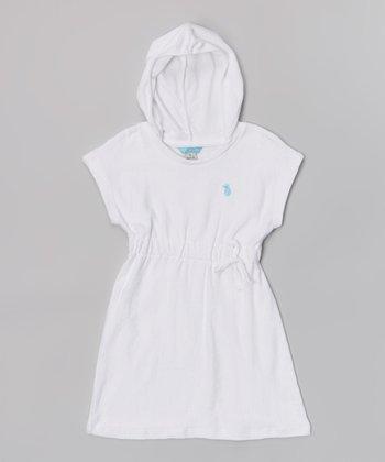 White Hooded Cover-Up - Toddler & Girls