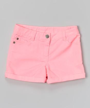 Neon Pink Shorts - Toddler & Girls