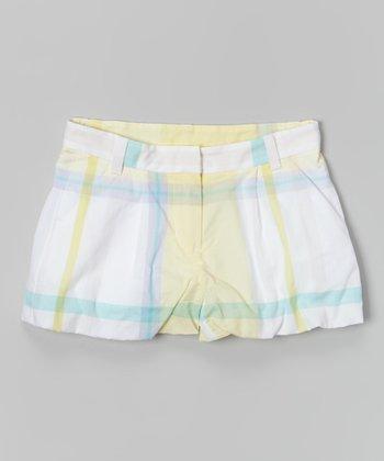 Light Yellow Plaid Shorts - Toddler & Girls