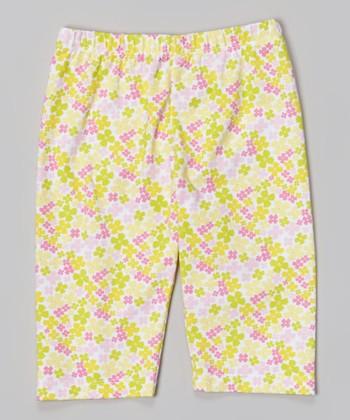 Banana Mini Floral Leggings - Toddler & Girls