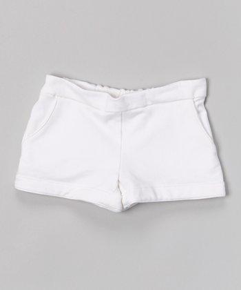 White Beach Shorts - Toddler & Girls
