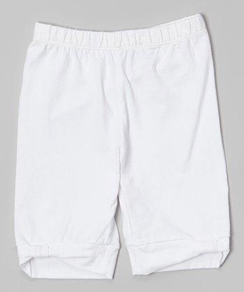 White Bermuda Shorts - Toddler & Girls