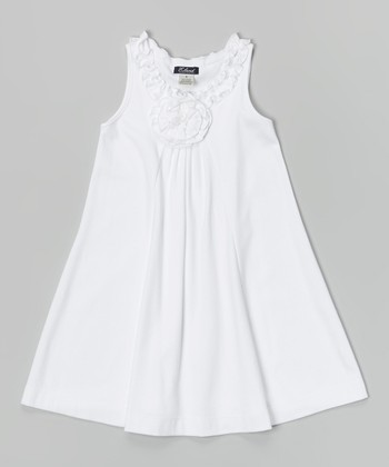 White Lauren Dress - Infant & Girls