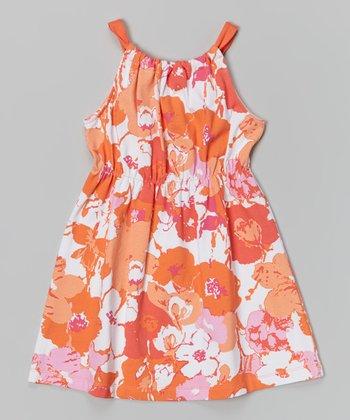 Orange Anna Dress - Infant, Toddler & Girls