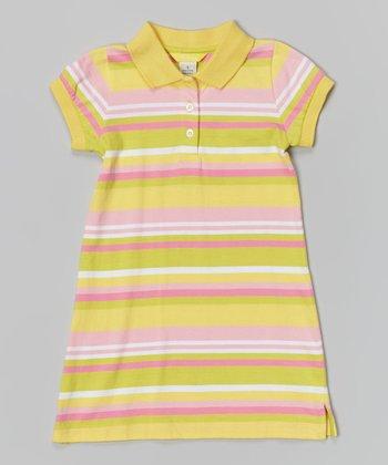 Banana Stripe Polo Dress - Infant, Toddler & Girls