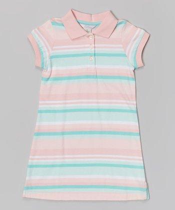 Pink Stripe Polo Dress - Infant, Toddler & Girls