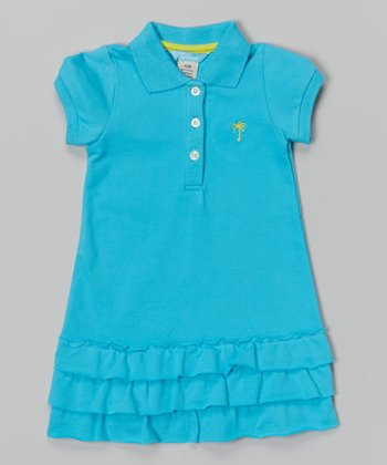 Blue Classic Polo Dress - Infant, Toddler & Girls