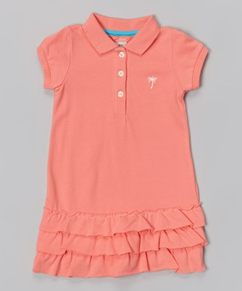 Coral Classic Polo Dress - Infant & Girls
