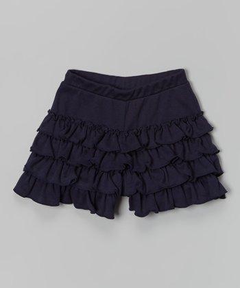 Preppy Navy Fashion Shorts - Toddler & Girls