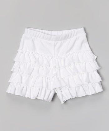 White Fashion Shorts - Toddler & Girls