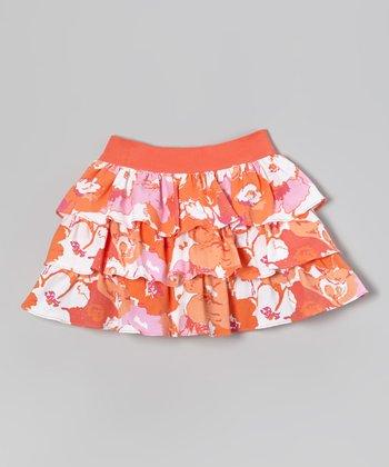 Orange Anna Skirt - Toddler & Girls