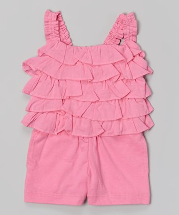 Preppy Pink Fashion Romper - Infant