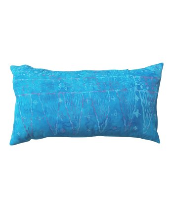 Aqua Blue Horizontal Tamarindo Throw Pillow