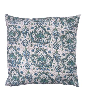 Blue & Green Tamarindo Throw Pillow