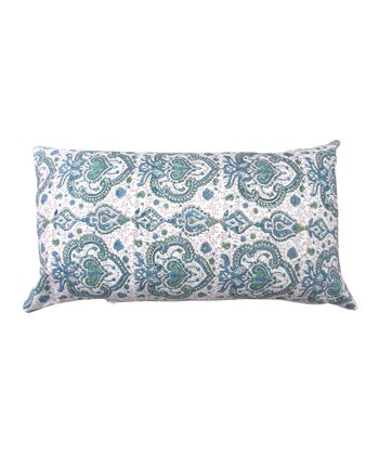 Blue & Green Tamarindo Rectangular Throw Pillow
