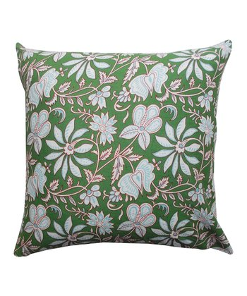 Green Floral Tamarindo Pillow
