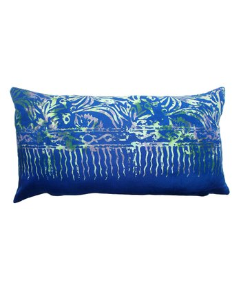 Blue Tamarindo Rectangular Throw Pillow