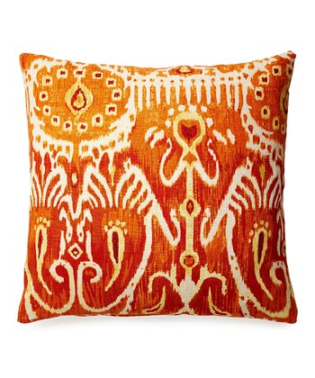 Orange Karma Down Throw Pillow