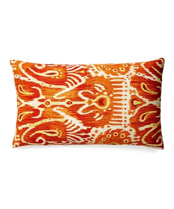 Orange Karma Rectangular Down Throw Pillow