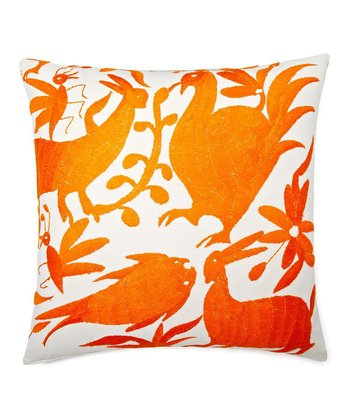 Orange Animal Kingdom Karma Down Throw Pillow