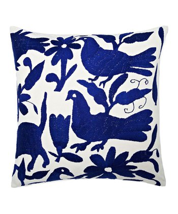 Blue Animal Kingdom Karma Rectangular Throw Pillow