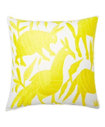 Yellow Karma Collection Throw Pillow