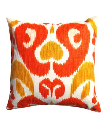 Orange & Red Abstract Karma Down Throw Pillow