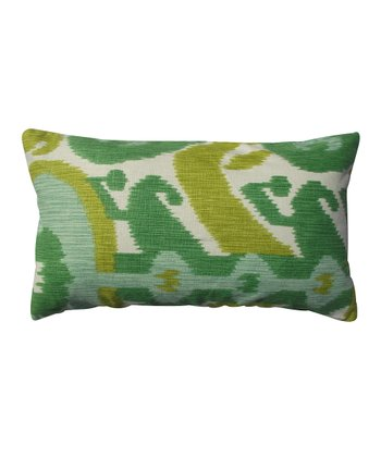 Green Abstract Karma Rectangular Throw Pillow