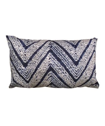 Blue Karma Rectangular Down Throw Pillow