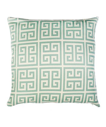 Blue Greek Today Throw Pillow