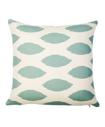 Turquoise & White Ikat Today Throw Pillow