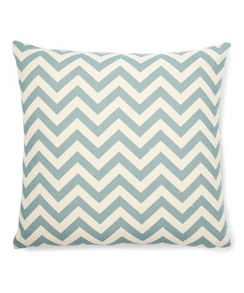 Blue Zigzag Today Throw Pillow