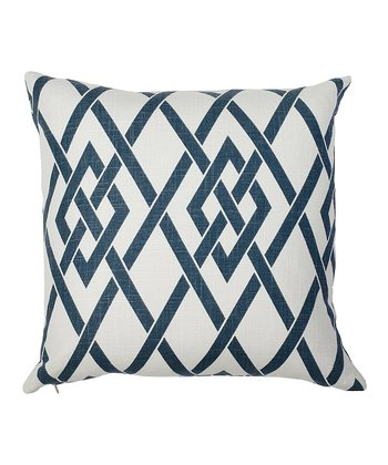 Royal Blue Lattice Today Down Throw Pillow