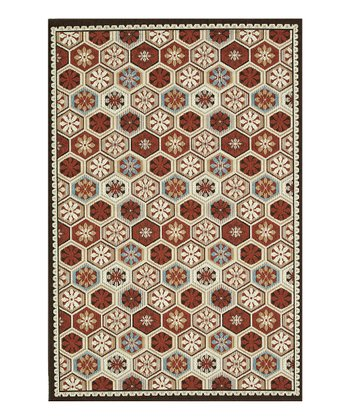 Brick & Beige Augusta Indoor/Outdoor Rug