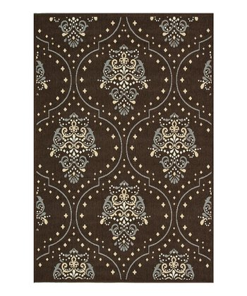 Brown & Blue Augusta Indoor/Outdoor Rug